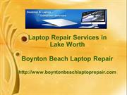 Laptop Repair Services in Lake Worth
