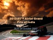 2012 F1Airtel Grand Prix of India