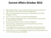 current affairs October 2012