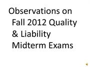 Fall 2012 Midterm feedback