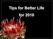 Tips for better life for