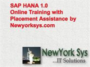 sap hana online training with placement assistance
