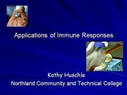 Applications of Immune Responses
