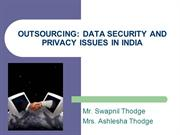 Outsourcing: data security issues in India