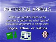 Rhetorical  Appeals  Introduction