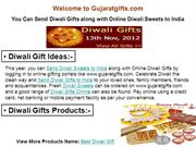 You Can Send Diwali Gifts along with Online Diwali Sweets to India