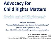 Child Rights Advocacy Vasudeva Sharma