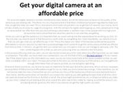 Get your digital camera at an affordable price