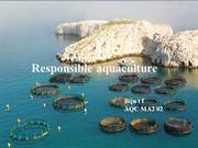 Responsible aquaculture