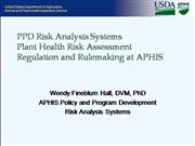 APHIS - PPD Risk Analysis