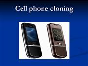 CELL PHONE CLONING PPT