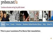 LOUISIANA PRO BONO NET AUDIO NEWS