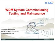 03 WDM System Commissioning Testing and Maintenance