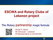UN-ESCWA and Rotary Clubs of Lebanon project