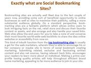 Top Bookmarking Sites