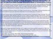 Toronto suffers from Hurricane Sandy Emergency Response Service Team c