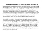Next wave of Investment Cycle in 2013 – Reymount Investment  Ltd