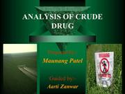 analysis of crude drug. total chloride, and phosphate content