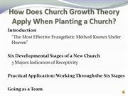 Evangelism and Church Growth: Local Church Growth (Part 2)