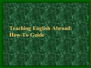 Teaching English Abroad - What You Should Know