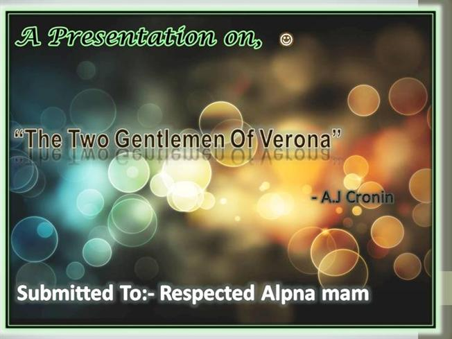 two gentlemen of verona authorstream