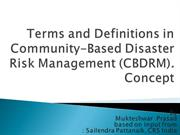 Disaster Management-1(Comunity Based Disater risk Management)