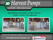 High Pressure Pumps by Harvest Pumps, Coimbatore