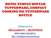 BOTOL TEMPAT MINYAK TUPPERWARE, COMPACT COOKING OIL TUPPERWARE BOTTLE