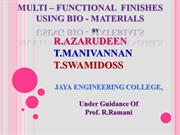 Multi-functional finishes  using bio-materials IIT - D