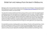 Bridal hair and makeup from the best in Melbourne