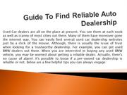 Guide To Find Reliable Auto Dealership