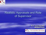 Supervisors Role in Appraisal