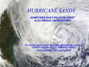 HURRICANE SANDY TRIBUTE