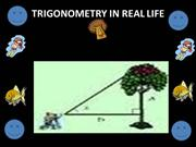 PPT TRIGONOMETRY IN REAL LIFE