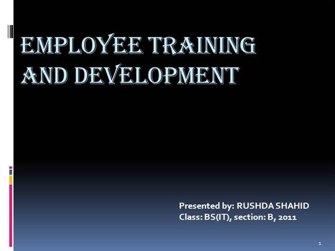 employee training and development authorstream