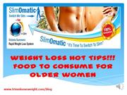 Tips - Weight Loss for Older Women