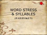 ESL Word Stress and Syllables with Chinese