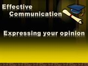 ESL - 1 -Expressing your opinion vocabulary and topics