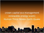 crown capital eco management renewable energy scam