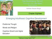 Berger  Ch 18 Emerging Adulthood Cognitive narrated