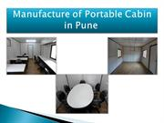Portable Cabin in Pune