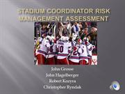Stadium Coordinator Risk Management Assessment