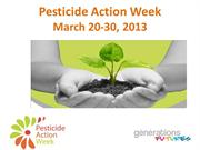 Pesticide Action Week presentation PAN Europe