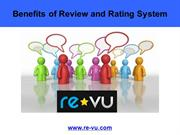 Benefits of Review and Rating System