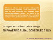 Empowering rural  scheduled girls