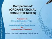 Competece-2(Organisational Competencies)