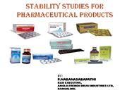 STABILITY STUDIES FOR PHARMACEUTICAL DOSAGE FORM