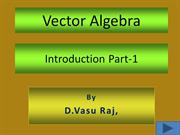 Vector Algebra Introduction -1