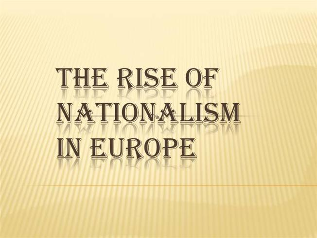 the nationalism in europe