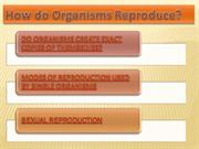 HOW DO ORGANSMS REPRODUCE